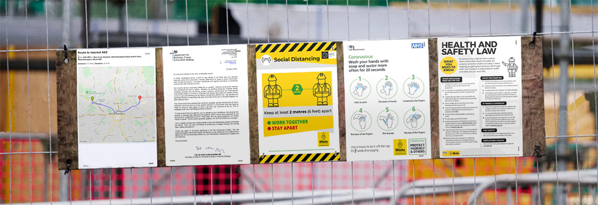 Ohutu COVID coronavirus building site health and safety documents