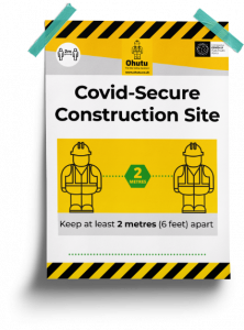 Covid-secure construction poster